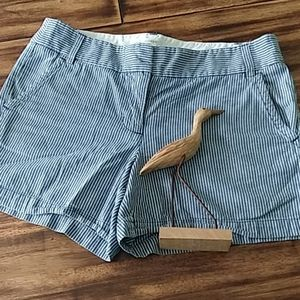 JCREW striped shorts size 10